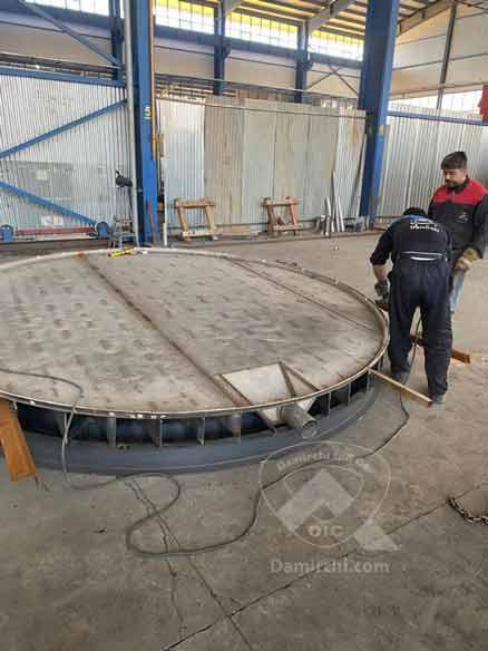 ساخت مخازن شیب دار