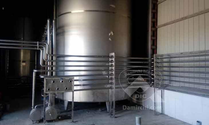 مخازن ذخیره شیر خام