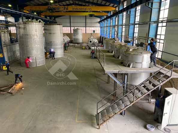 کارگاه ساخت مخازن گروه صنعتی دمیرچی