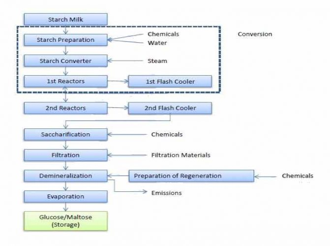 پروسه تولید گلوکز